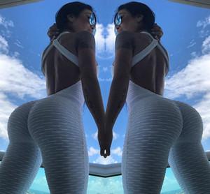 pantaloni di yoga siamesi vestito calda nuove donne sexy tute siamesi Sport Boxe Tennis abbigliamento sportivo pantaloni di forma fisica fianchi yogaTracksuits YJTZ02