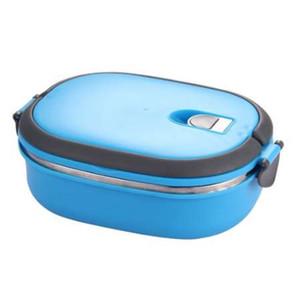 Recipiente De Armazenamento De Alimentos De Aço Inoxidável Isolada Caixa De Almoço Thermo Server Essentials Thermal (Single Layer, Blue)
