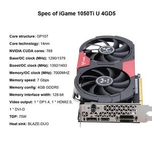 NVIDIA GeForce GTX 1050Ti 1050 bis GPU 4 GB GDDR5 128bit Gaming Video Grafikkarten für Desktop als 960 750Ti