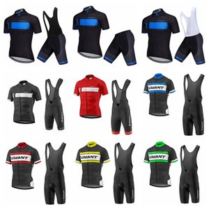 GIANT Summer Team Cycling Vêtements Hommes manches courtes Mountain Bike Vélo Jersey Suit Respirant Racing Cycling Jersey Set 90533Y