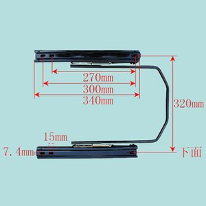 Car Driver Seat Rails, Seat foreward and Backward Adjusting Rails for Truck, Construction Machinery, No Minimum Order and Freeshipping