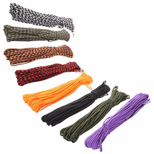 4MM 100FT 31M 7 Cord Strand Paracord 550 Parachute Cord Corda Corda Mil Spec Cuerda EDC ENGRENAGEM Carabiner Camping Survival Equipment Kit