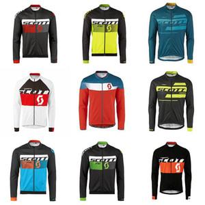 Herren SCOTT Radtrikot MTB Bike Shirt Fahrradbekleidung ropa ciclismo hombre atmungsaktiv schnell trocknend Langarm Rennoberteile F0902