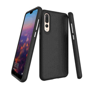 Huawei P20pro mobile phone shell tpu pc two-in-one mobile phone shell triangle lattice texture phone protection