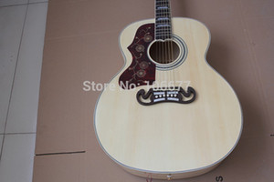 Free Shipping Left Handed Spruce Top Fishman Pickup J200 NA Acoustic Electric Guitar with Free Hard Case Golden Hardware