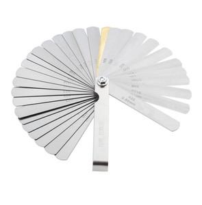 Stainless Steel 32 Blades Feeler Gauge Metric Gap Filler 0.04-0.88mm Thickness Gage For Measurment Gauging Measuring Tool