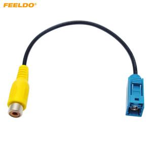 FEELDO Adaptador de Câmera de Inversor Do Carro Fakra RCA Cabo Plug Para Mercedes Para Ford OEM Unidade de Rádio Cabeça # 3952
