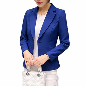 Haoduoyi  Women Blazers long sleeve Feminino 2018 Spring fashion single button Blazer Office Lady Blazers suit jacket