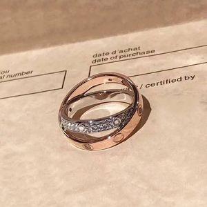 Calidad superior de moda 925 sterling silve madre anillos plata oro rosa amor anillos de plata anillo del amante de la boda cz piedras regalo de cumpleaños