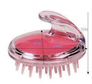 Lavaggio 1pcs silicone Shampoo massaggio del cuoio capelluto della spazzola del pettine dei capelli cuoio capelluto della testa Massaggiatore Bath Spa spazzola DHL libera il trasporto