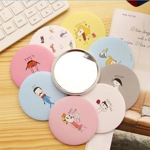 7cm mini One Side Small Makeup Mirror Hand Pocket Travel Mini Cosmetic Mirror