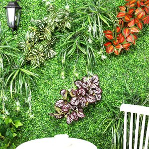 1 باقة ريال اللمس الأخضر العشب نباتات اصطناعية للبلاستيك الزهور المنزلية مخزن دست ريفي الجدول الديكور البرسيم مصنع بالجملة