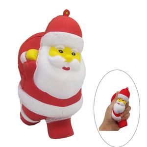 Kawaii Santa Claus Squishy Perfume Regalo de Navidad Simulación Squishies Squeeze Squeeze Vent Kids Toys Envío gratis