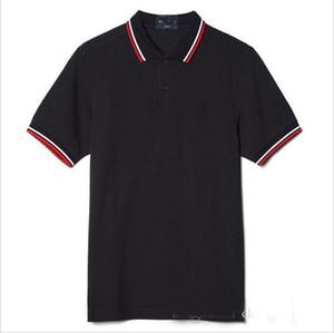 2018 Ventes Hommes d'affaires célèbres manches courtes Polos Coton populaire broderie Blé Polos Designer personnalisé fait Fred robe chemises