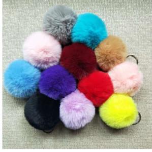8cm Faux Rabbit Fur Ball Portachiavi Fur Pom Pom Portachiavi Llaveros Portachiavi Fluffy Portachiavi Porte Clef Porte Clef Pompon De