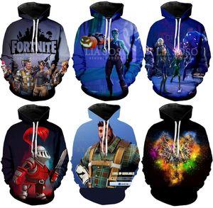 Gros Fortnite 3D Imprimé Sweat À Capuche Sweat-Shirt 6 Conceptions Hommes Femmes Hip Hop Style Automne Hiver Capuche Sweat Couple Tops