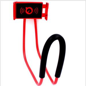 Universel Lazy Neck Hanging Holder Phone Stands Ожерелье для мобильного телефона Поддержка кронштейна 360 градусов вращения 8 цветов для Samsung Iphone