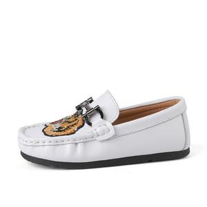 2018 Calçados Nova couro genuíno crianças Crianças Sport Boys Loafer Moda sapatos macios Crianças para meninos das meninas deslizamento plana Casual Em Loafers