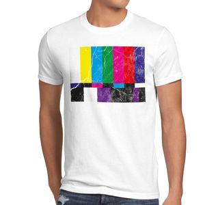 Retro Sheldon Testbild camiseta Big Cooper TV Monitor Bang Fernseher Led Theory camiseta Casual manga corta para ropa