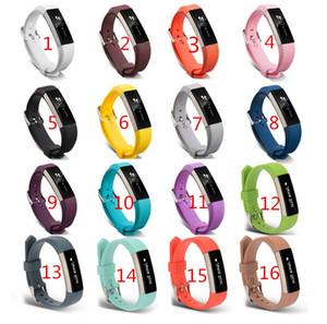 새로운 대체 손목 밴드 팔찌 실리콘 실리콘 스트랩 Fitbit Alta HR 스마트 시계 팔찌 16 색 걸쇠 스마트 액세서리