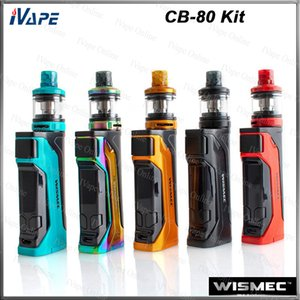 Auténtico kit Wismec CB-80 con AMOR NS Pro Tank 2ml Rellenador superior CB-80 Single 18650 Battery Mod 80W portátil Firmware actualizable