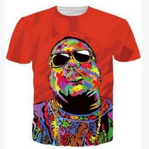 Tupac 3D Drôle T-shirts Nouvelle Mode Hommes / Femmes 3D Imprimer Personnage T-shirts T-shirt Féminin Sexy T-shirt Tops Vêtements ya202