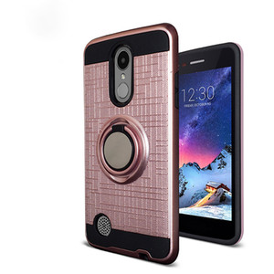 For LG Aristo 3 Alcatel 1X Evlove Samsung Galaxy J2 core 3D Ring 360 Degrees Kickstand Newest Phone Case oppbag