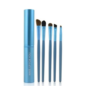 5pcs Travel Portable Mini Eye Makeup Brushes Set Eyeshadow Eyeliner Eyebrow Brush Lip Make Up Brushes Kit