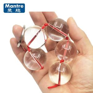 Diámetro 30mm Bolas Anales de Vidrio Bolas Vaginales Consoladores Juguetes Sexuales Productos Sexuales Vagina Bolas Kegel para Mujeres Masajeador de Cristal Y18102305