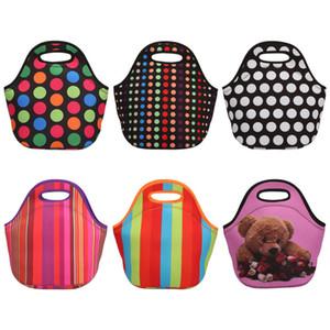 Pranzo al sacco all'ingrosso, monogramma in neoprene Starfish Lunch Box in manico tagliato con 6 colori LX0482