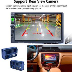 """7 """"2DIN GPS Navigasyon Haritası RDS Bluetooth Dokunmatik Ekran Araba Radyo Medya MP5 Çalar Ücretsiz Kargo"""