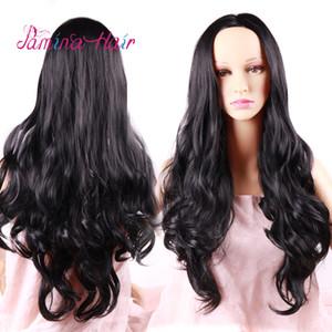 PAMINA HAIR Cosplay loose wave Wigs Heat Resistat Natural Black With Bangs Full Head Wigs (natural black)