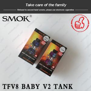 100% Original SMOK TFV8 Bébé V2 Réservoir 5ml Ampoule Pyrex Atomiseur Avec A1 A2 Double Bobine De Maille Pour 510 Fil Mod Authentique Smoktech
