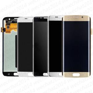 5 ADET LCD Ekran Dokunmatik Ekran Digitizer Meclisi Yedek Parçalar Samsung Galaxy S7 Kenar AMOLED G935 G935A G935F