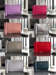 Portafogli in pelle da polso da donna con portamonete da 32 colori, portamonete con pochette con cerniera, design da polso, 27 colori