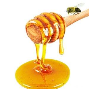 8 cm de comprimento mini vara de mel de madeira natural mel dippers partido fornecimento colher vara mel pote vara
