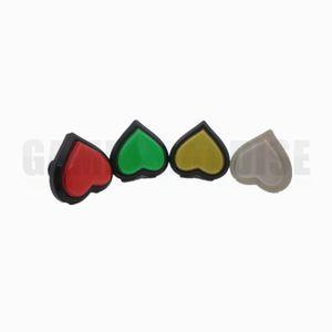 Ücretsiz kargo 6 Adet Yeni Kalp Şeklinde Microswitch LED Arcade Oyun Makinesi Için Işık Ile Push Button üç renkler mevcut