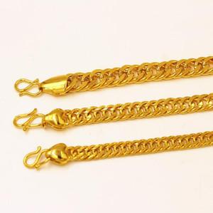 Европейская валюта золотые украшения золотой браслет 6 мм 8 мм 10 мм классический звено цепи мужчины женщины мода простой вьетнамский золотой браслет пыли
