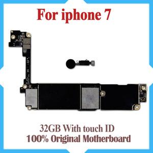 Placa madre probada al 100% para iPhone 7 4.7 pulgadas 32 GB Fábrica original desbloqueada Mainboard con Touch ID IOS actualización de soporte