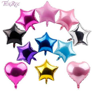 FENGRISE 5pcs 18inch Foil Star Balloon Wedding Decoration Silver Gold Heart Balloons Birthday Baby Shower Wedding Party Supplies