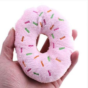 Lovely Pet Dog Puppy Cat Squeaker Quack Sound Toy Chew Donut Gioca a giocattoli