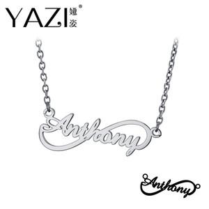 Yazi personalisierte Name Halskette Gold Farbe Kupfer Infinity Anhänger eingraviert einzigen Namen benutzerdefinierte Schmuck Speicher Geschenk für Freund