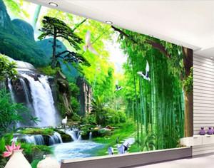 3d photo wallpaper waterfall 3d living room wallpaper photo TV backdrop 3 d modern wallpaper wall papers home decor