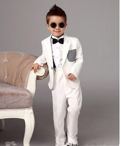 Одна кнопка высокого качества Notch Lapel Kid Полный дизайнер красивый мальчик свадебный костюм наряд для мальчиков на заказ (куртка + брюки + галстук + жилет) A A