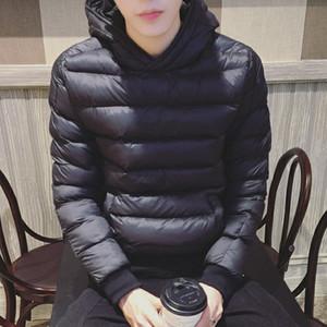 2018 남성 자켓 가을 겨울 고품질 후드 코트 남성 캐주얼 Thicken Parka 아웃웨어 방풍 코튼 패딩 옷 남성