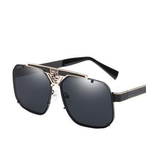Nuevo estilo de moda Vintage a prueba de viento cuadrado hueco hombres gafas de sol mujeres alta calidad Drive Shade gafas de sol UV400