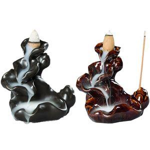 1 Adet Seramik tütsü brülör Geri Akış Ev Dekorasyonu Lotus Çubuk