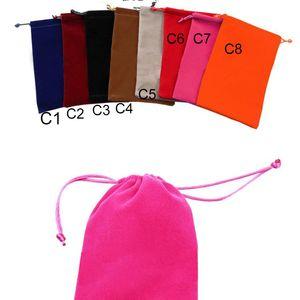 7x9cm amostra de veludo sacos bolsas Jóias sacos de embalagem de doces do presente de Natal / / casamento Bolsas mais cor para a escolha