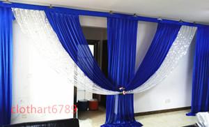 6 m de largura swags de backdrop valance casamento estilista pano de fundo swags Partido Celebração Celebração Estágio estilista fundo projetos e cortinas