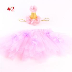 Ins infantie tutu gonne neonate corona fasce + neonato fiore tulle tutu gonna e top set neonato fotografia puntelli pettiskirts B1